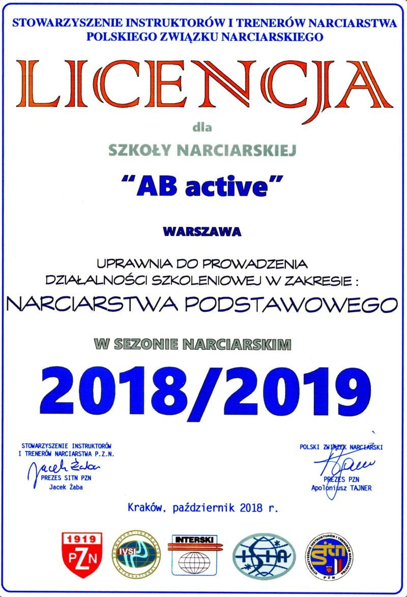 Licencja AB Active 2019